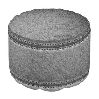 Black denim texture elegant pouf