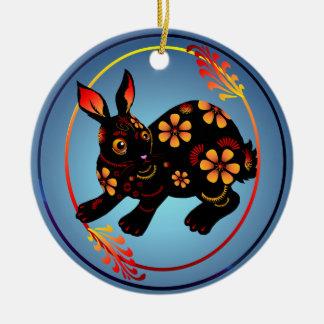 Black Designed Rabbit-Ornaments