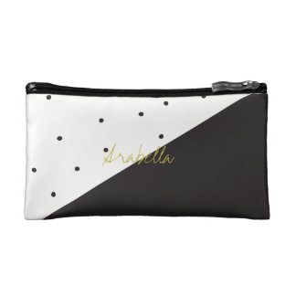 Black Diagonal Polka Dot Cosmetics Bag Monogram