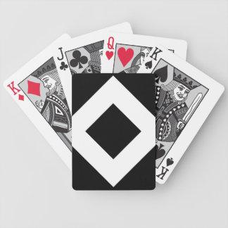 Black Diamond, Bold White Border Bicycle Playing Cards