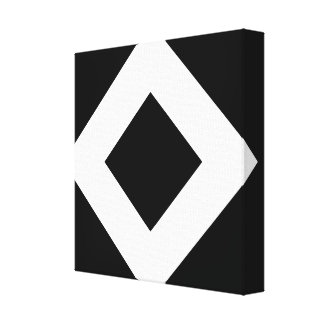 Black Diamond, Bold White Border Gallery Wrapped Canvas
