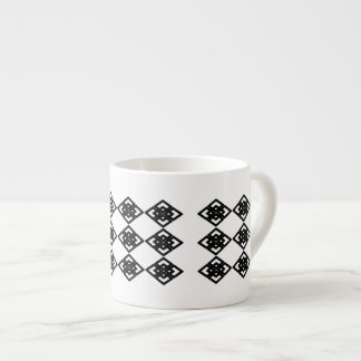 Black diamond pattern espresso mug