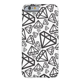 BLACK DIAMOND random geometric pattern Barely There iPhone 6 Case