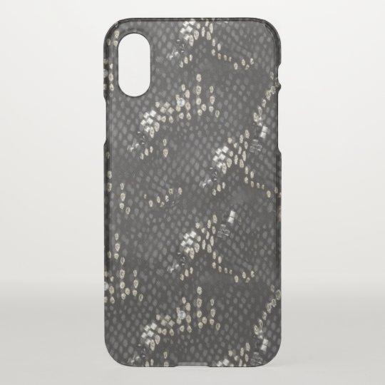 Black Diamond Snake Skin iPhone X Case
