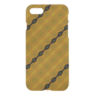 Black Diamond Stripe on Gold and Green iPhone 7 Case