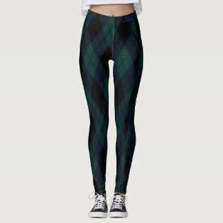 Black Diamond Tartan Leggings
