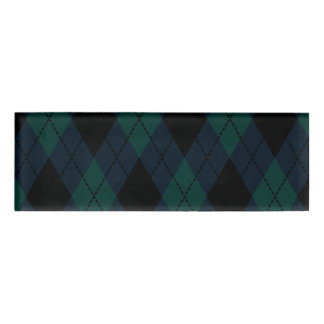 Black Diamond Tartan Name Tag