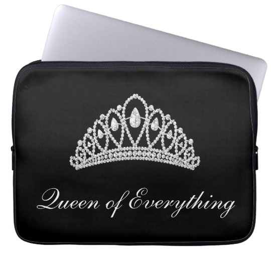 Black Diamond Tiara Queen of Everything Laptop Laptop Sleeve
