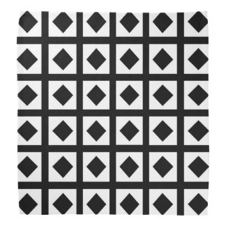 Black Diamonds and White Squares Bandana
