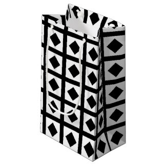 Black Diamonds and White Squares Small Gift Bag