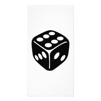 Black dice customized photo card