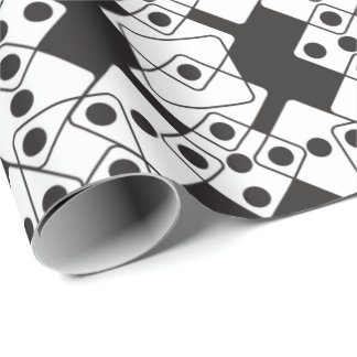 Black Dice Wrapping Paper