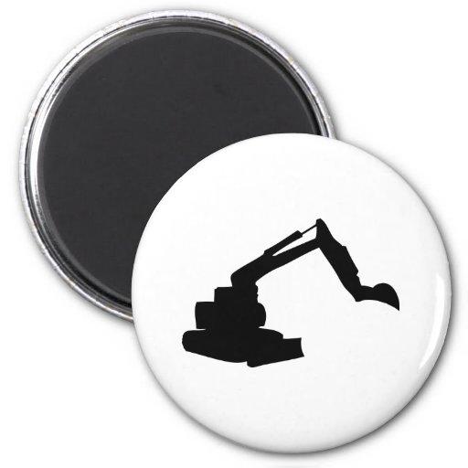 black digger construction building-site fridge magnets