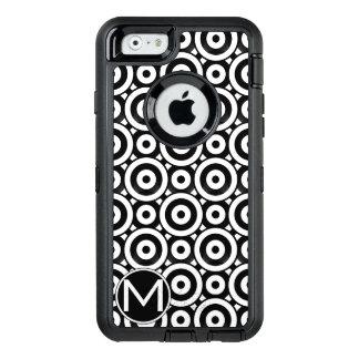 Black Disc Monogram OtterBox iPhone 6/6s Case