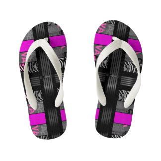 Black Diva Pink Zebra Thongs