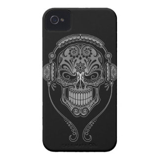 Black DJ Sugar Skull iPhone 4 Cases