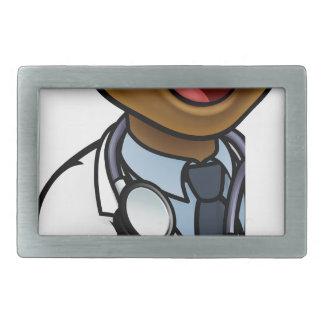 Black Doctor Thumbs Up Cartoon Character Sign Belt Buckle