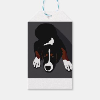 Black dog art gift tags