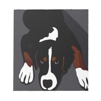Black dog art notepad