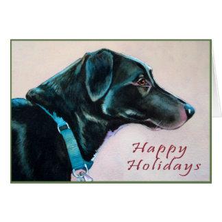 Black Dog Christmas Card
