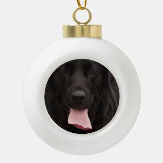 Black dog face ceramic ball decoration