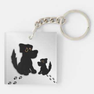Black Dog Family Key Ring