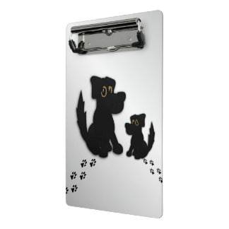 Black Dog Family Mini Clipboard