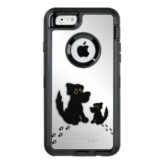 Black Dog Family OtterBox Defender iPhone Case