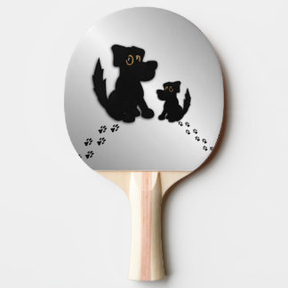 Black Dog Family Ping Pong Paddle
