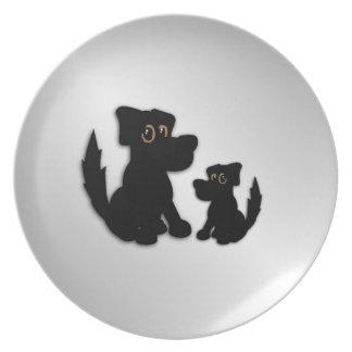 Black Dog Family Plate