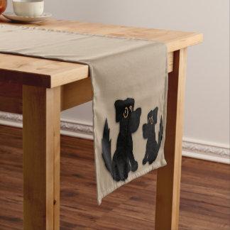 Black Dog Family Short Table Runner