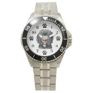Black Doodle Dog Wrist Watch