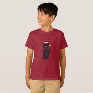 Black Doodle Santa T-Shirt