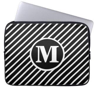 Black Dot DS Monogram Laptop Sleeve
