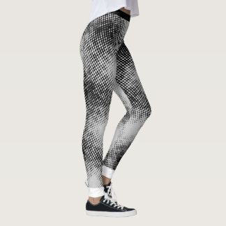 BLACK Dot Pattern on (Your Background Colour) Leggings