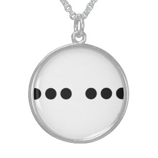 Black Dot Stylish Sterling Silver Round Necklace