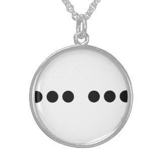Black Dot Stylish Sterling Silver Round Necklace