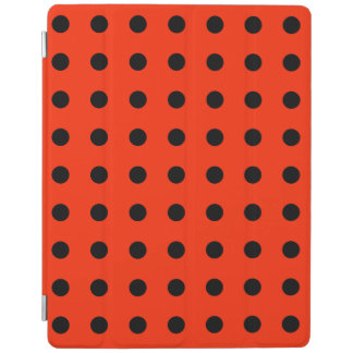 Black dot with red backgroud - geometric design iPad cover