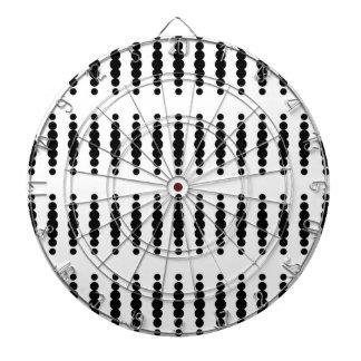 Black Dots on White Background Dartboard With Darts