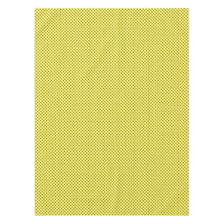 Black Dots on Yellow Tablecloth