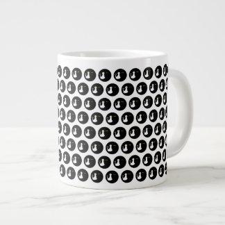 Black Dots Pattern Love Cats Cool Micro Design Large Coffee Mug