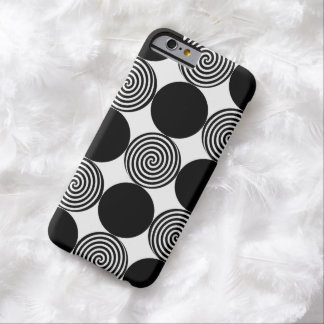 Black Dots & Swirls iPhone 6 case Barely There iPhone 6 Case