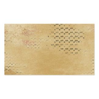 Black Dots torn Kraft Paper collage background Pack Of Standard Business Cards
