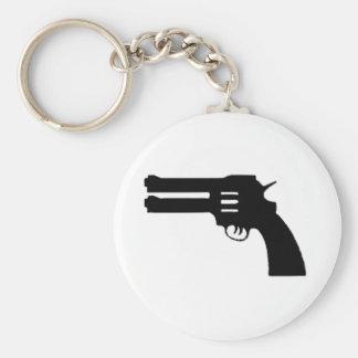 Black Double Love Gun Keychain