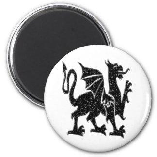 Black Dragon 6 Cm Round Magnet