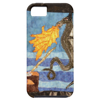 Black Dragon and Mage Quilted Dragons series iPhone 5 Covers