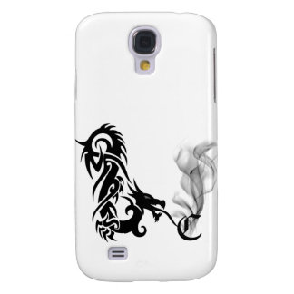 Black Dragon Breath Monogram C iPhone3G Cover Samsung Galaxy S4 Cases
