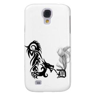 Black Dragon Breath Monogram D iPhone3G Cover Galaxy S4 Cases