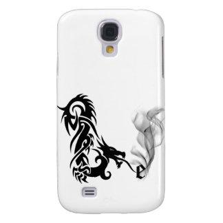 Black Dragon Breath Monogram E iPhone3G Cover Samsung Galaxy S4 Case