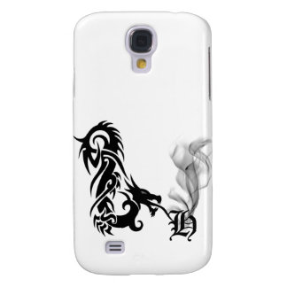 Black Dragon Breath Monogram H iPhone3G Cover Samsung Galaxy S4 Covers